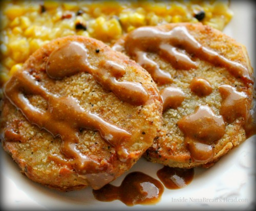 Fried Green Tomatoes - Finished with Balsamic Dressing