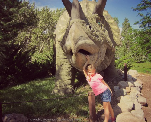 Ogden Dinosaur Park - Lilly tames the beast