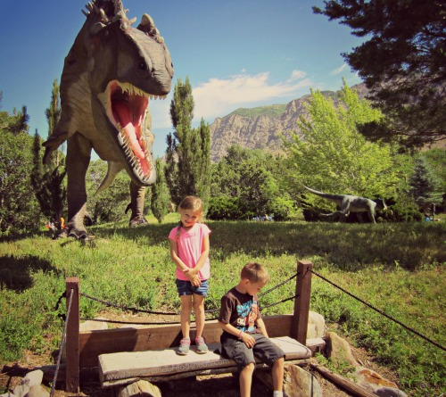 Ogden Dinosaur Park - LOOK OUT!