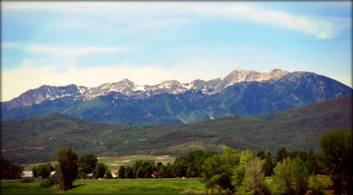 Ogden Mountain Drive - Wasatch Range from Pineview Reservoir