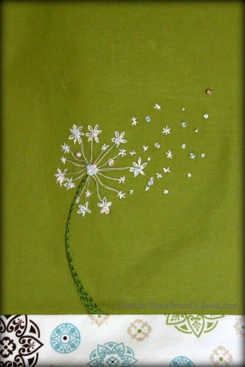 Dandelion Bag close-up