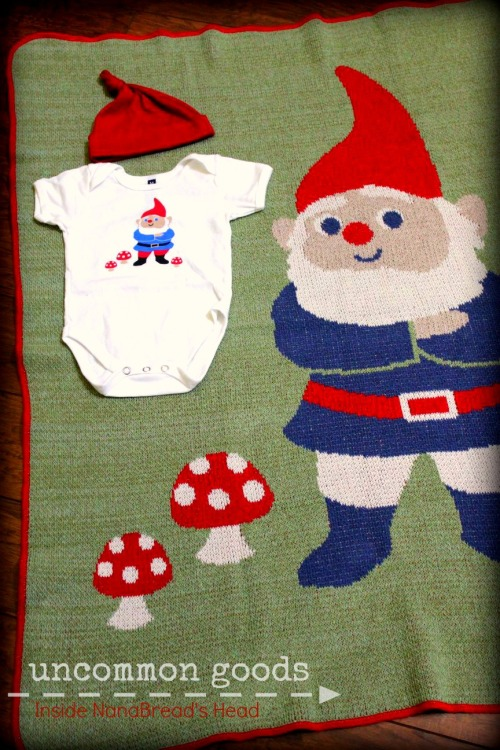 Uncommon Goods - Gnome Onesie & Blanket Duo - cutest baby gift