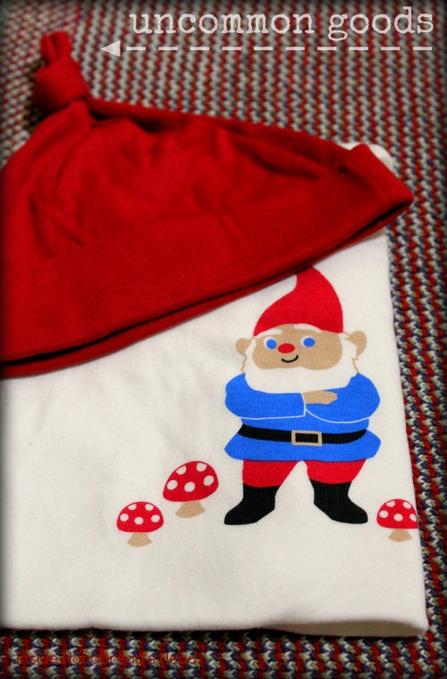 Uncommon Goods - Gnome Onesie & Hat Close-Up