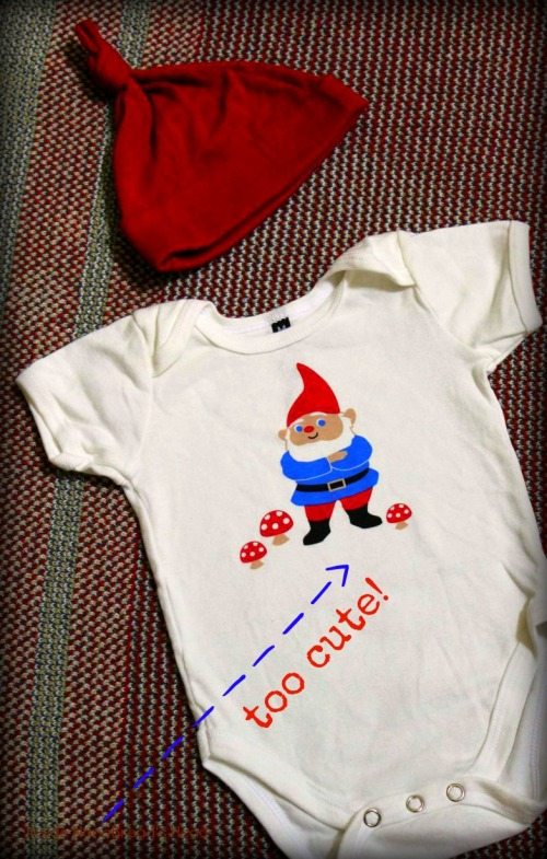 Uncommon Goods - Gnome Onsie & Hat - it's just too cute!