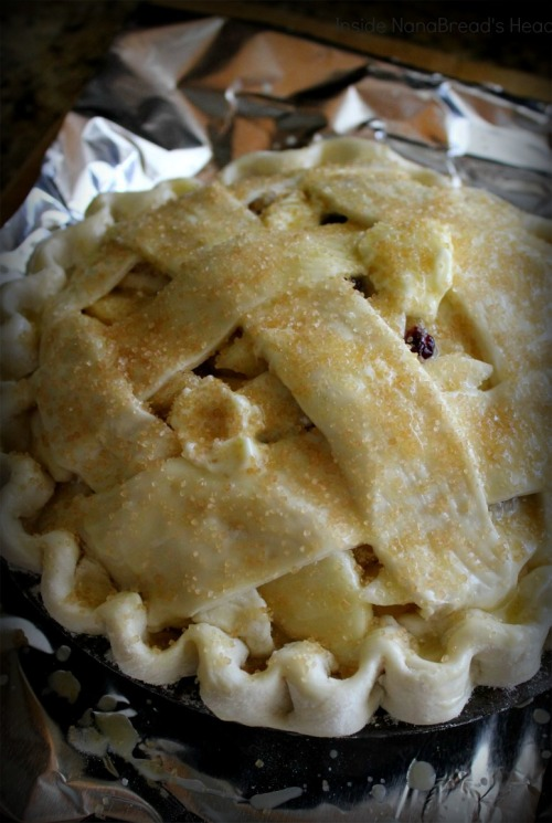 Apple Pear Cranberry Pie - Ready for Baking