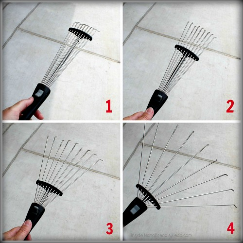 OXO Expandable Hand Rake Collage
