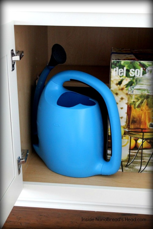 OXO Pour & Store Watering Can - Easy Storage