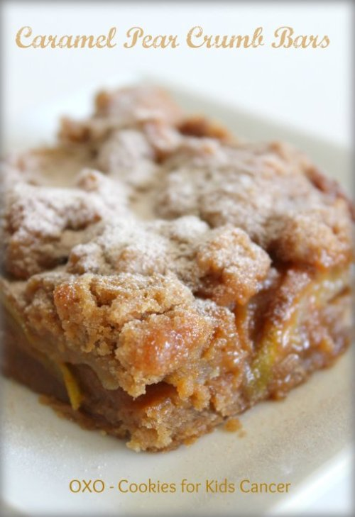 Caramel Pear Crumb Bars - OXO Cookies for Kids Cancer 2015