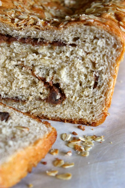 Honey Oat PB Swirl Bread - CloseUp