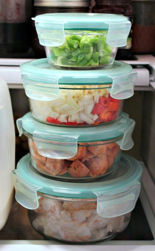OXO Bakeware Prep Bowls in Fridge - INBHblog