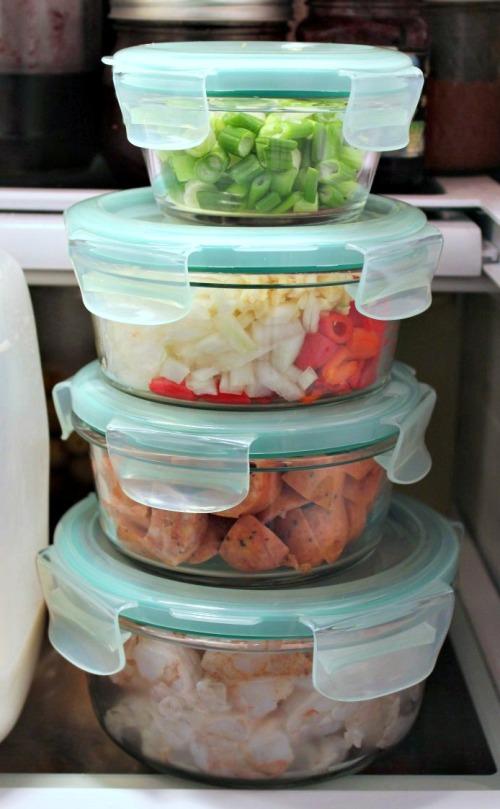 OXO Bakeware Prep Bowls in Fridge - INBHblog